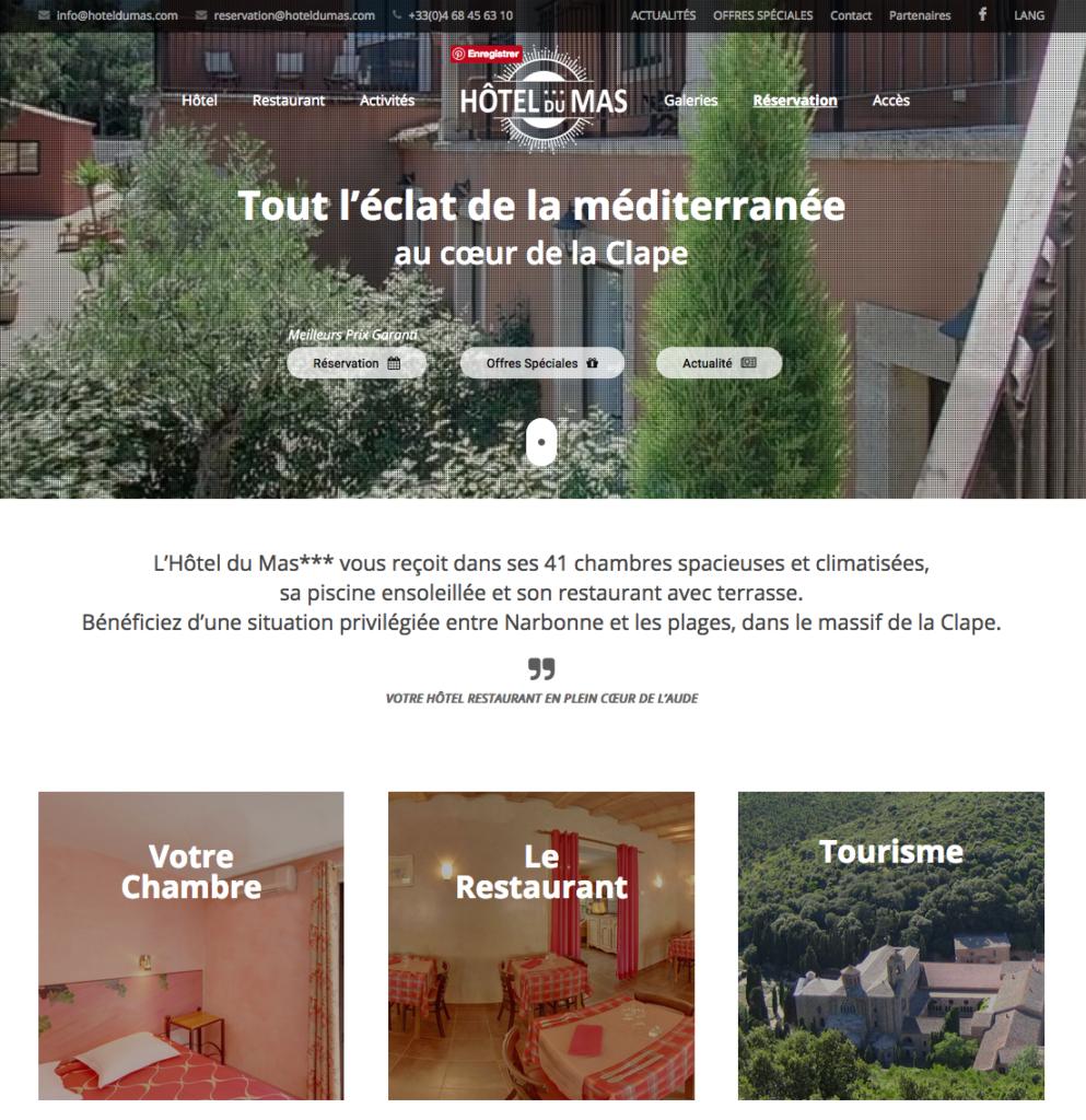 Nouveau site internet Hôtel du Mas***
