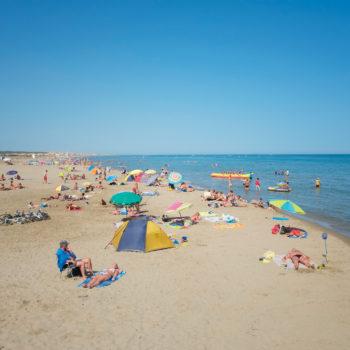 La plage de Narbonne Plage - Hôtel du Mas***