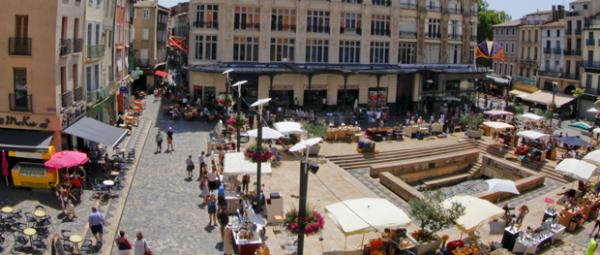 Place de la Mairie de Narbonne - Hôtel du Mas***
